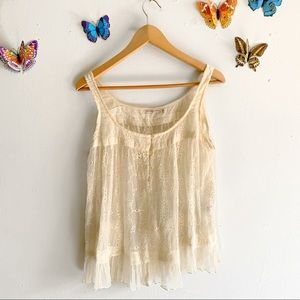 Mes Demoiselles Lace Embroidered Top Size 36 / 4